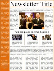 free newsletter template free newsletter template