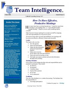 free newsletter template team intelligence newsletter march page