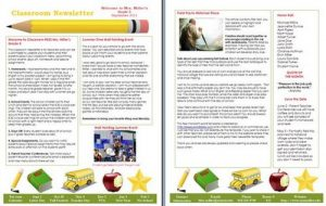 free newsletter templates for teachers newsletter templates