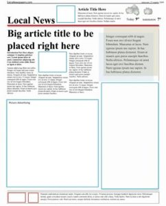 free newspaper template free microsoft word template extranewspapers com (page)