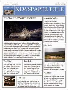 free newspaper template newspaper template for word