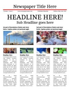 free newspaper template pjc genericfrontpage