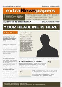free newspaper template word newspaper template