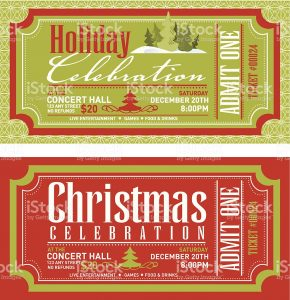 free newspaper templates set of christmas concert tickets templates vector id