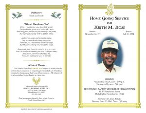 free obituary program template download orig