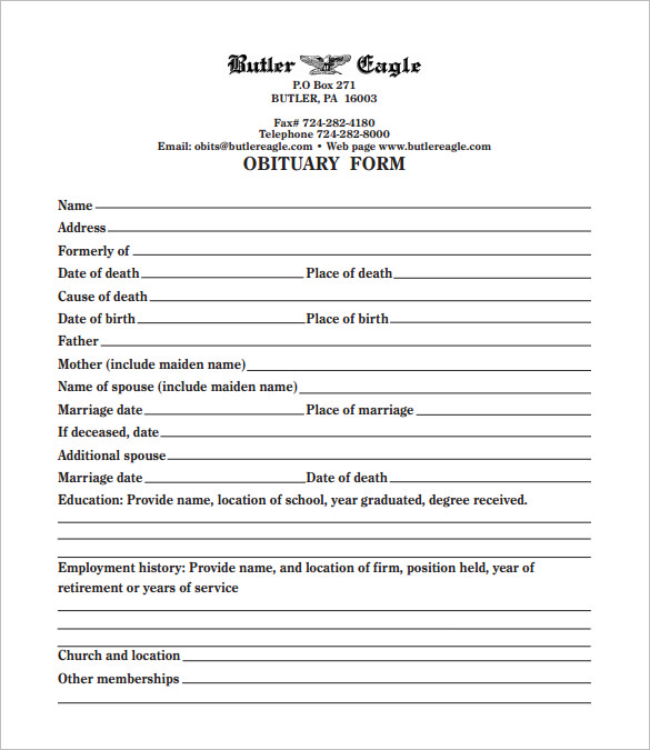 Free Obituary Program Template Download | Template Business