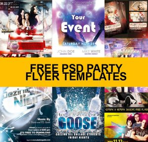 free party flyer templates free psd party
