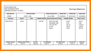 free payroll templates canadian pay stub template
