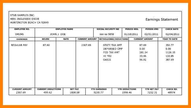 Free Payroll Templates Template Business