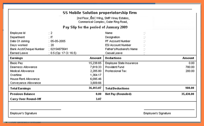 payroll in excel format free download