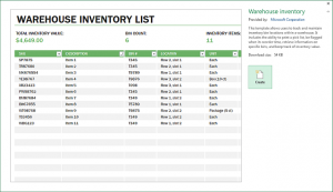 free payroll templates warehouse inventory excel