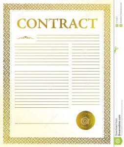 free photography contract contract document