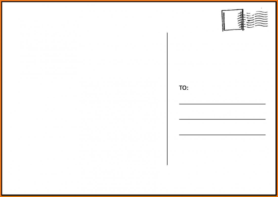 free postcard template