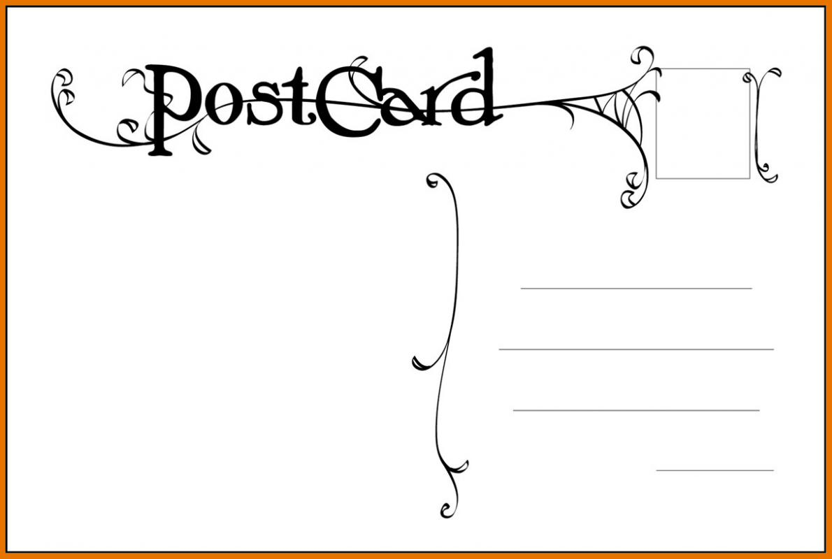 free postcard templates template business. Black Bedroom Furniture Sets. Home Design Ideas