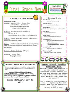 free preschool newsletter templates orig