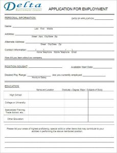free printable application for employment template simple job application form template - Free Printable Application For Employment Template