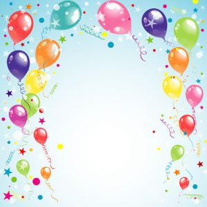 free printable banner templates balloon ribbon happy birthday background