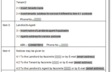 free printable basic rental agreement qld tenancy sample
