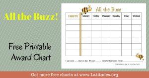 free printable behavior charts all the buzz weekly award chart wordpress