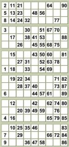 free printable bingo cards with numbers bingo strip