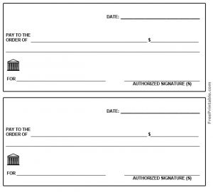 free printable checks template plain blank check