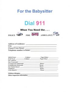 free printable child medical consent form printable babysitter emergency contact form