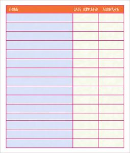 free printable chore chart templates free chore chart template