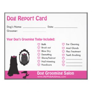 free printable coupon templates dog report card for dog groomers rebfcaeafccfed vgvs byvr