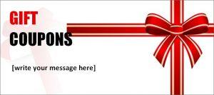 free printable coupon templates gift coupon book template