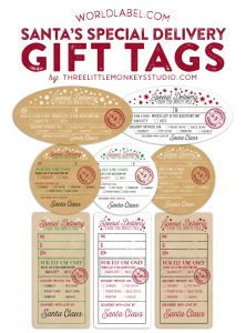 free printable customizable gift tags santa gift tags