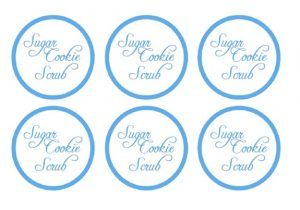 free printable customizable gift tags sugar cookie scrub labels