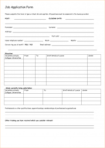 free printable doctors excuse basic job application form
