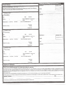 free printable employment application form pdf jack in the box part time job application form l