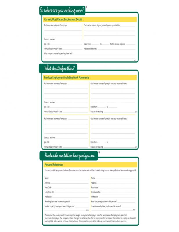 free printable employment application form pdf