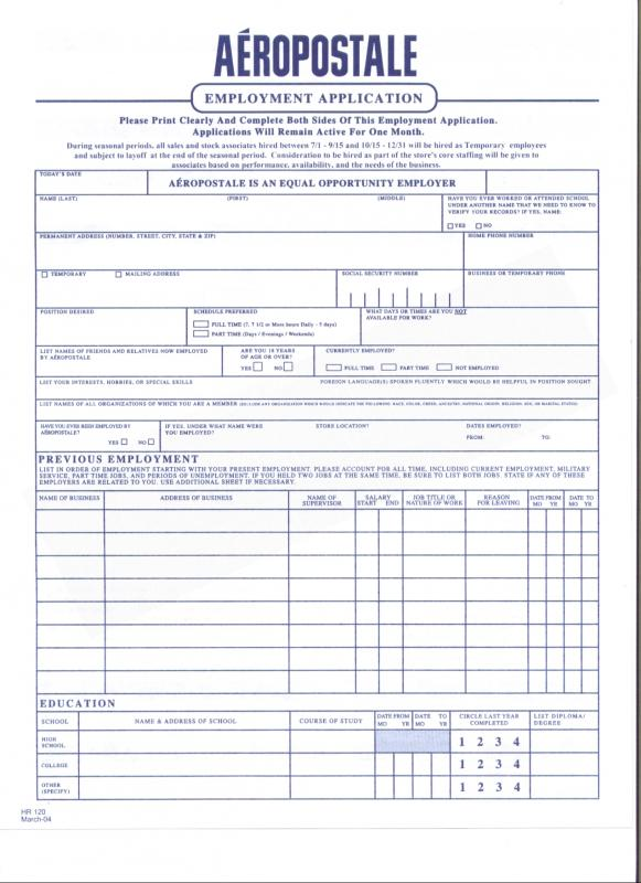 Free Printable Employment Application Form Pdf  Template Business