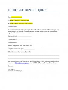 free printable employment verification form credit reference request d