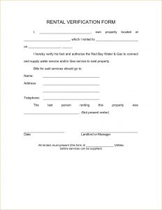 free printable employment verification form doc landlord verification form tenant verification