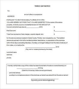 free printable eviction notice template free eviction notice for days