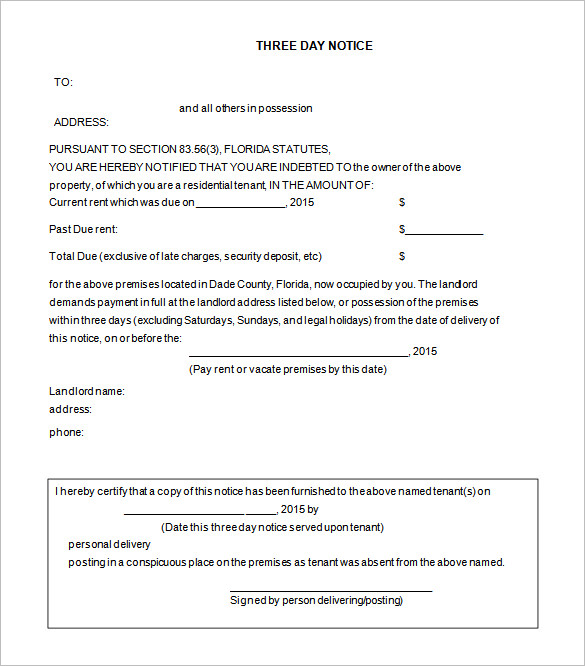 free printable eviction notice template