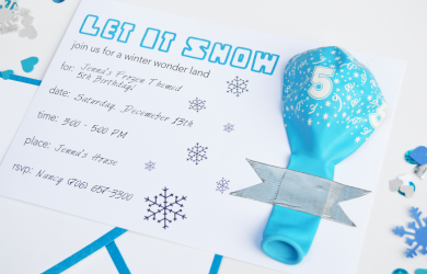free printable gender reveal invitations diy let it snow party invitation