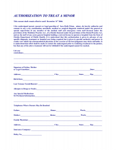 free printable medical forms free printable medical consent form