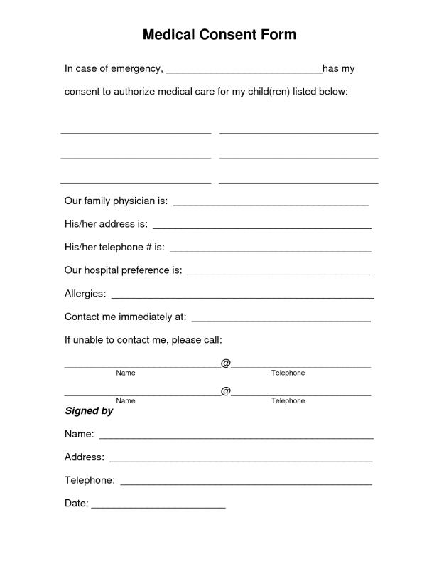 Free Printable Medical Forms  Template Business