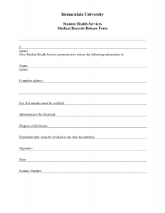 free printable medical forms medical record release form templates