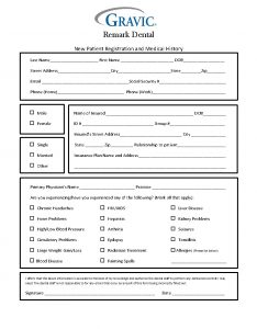 free printable medical history forms dental patient history