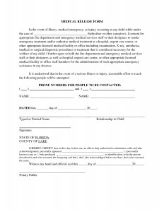 free printable medical release form babysitter medical release form