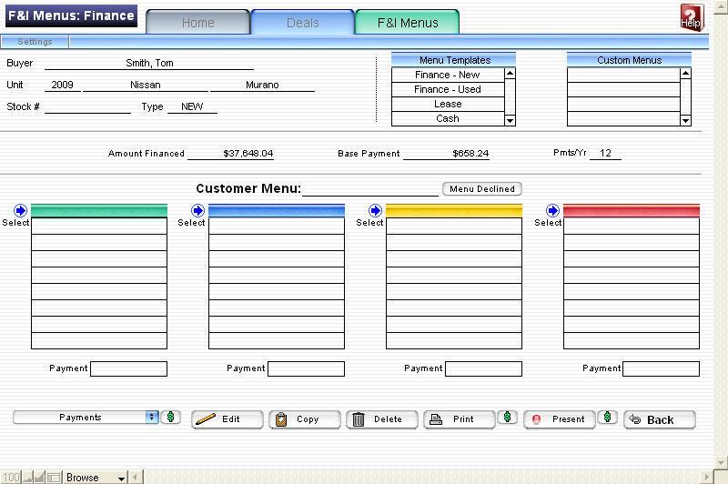 free printable menu template