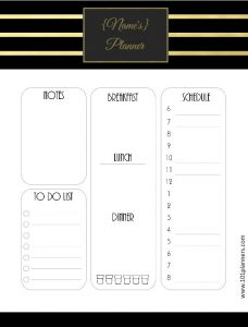free printable menu template daily planner template