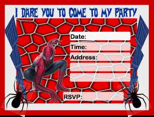 free printable menu template spiderman invitation printable free