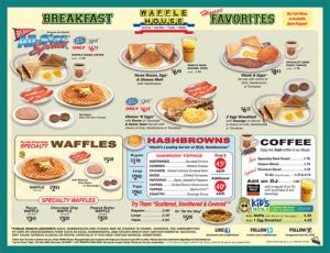 free printable menu template waffle house menu