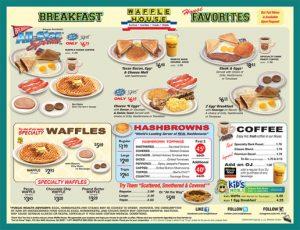 free printable menu template waffle house menu